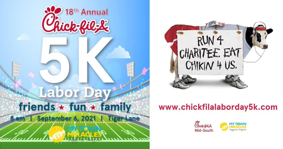 Chick-fil-A 5K benefiting My Town Miracles