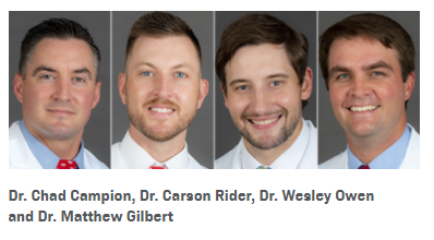 Campbell Clinic, the Mid-South's Largest Orthopaedic Group, Adds 4 New Physicians